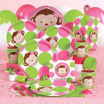 Mod Monkey Pink birthday - can't wait to do this for Ellie's 2nd!!