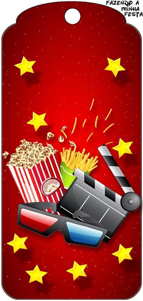 Fiesta de Cine: Invitaciones y Tarjetería para Imprimir Gratis.
