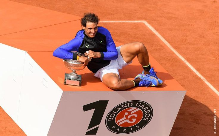 The now 10-time Roland-Garros champion, Rafael Nadal, the author of his own legend: : http://rg.fr/uWVtPK  #RG17
