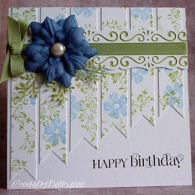 Love the patterned paper strips.