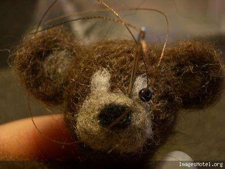 Tuto ours en laine cardée