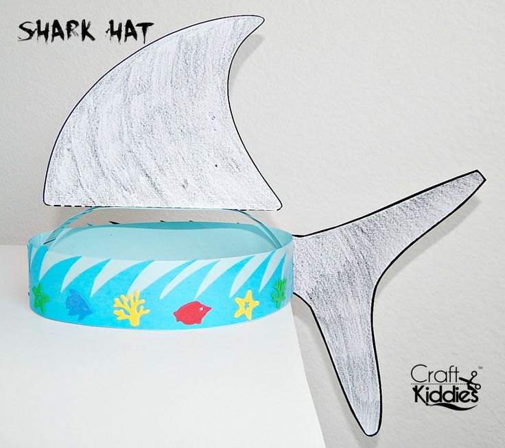 DIY Paper Shark Hat by Craft Kiddies                                                                                                                                                      More