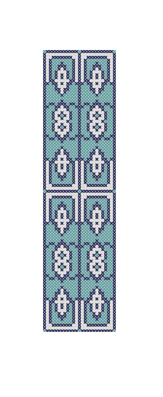 Cross stitch pattern Turkish design blue by CraftwithCartwright