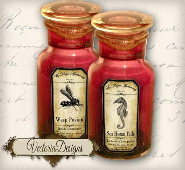Magic Animals Apothecary Labels