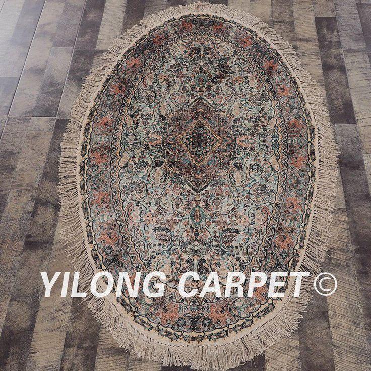 YILLONG 3'x5' Persian silk carpet colorful…