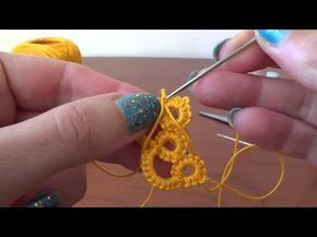 Come aggiungere filo per creare CHIACCHIERINO AD AGO How to add yarn to create NEEDLE TATTING - YouTube