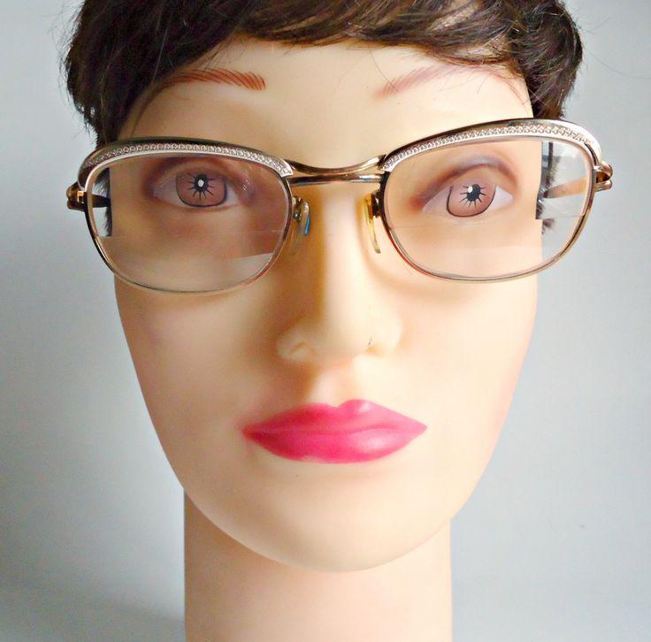 Vintage Eyeglass Frames Amor France Gold Filled Frames 1950's Steampunk by treasurecoveally on Etsy