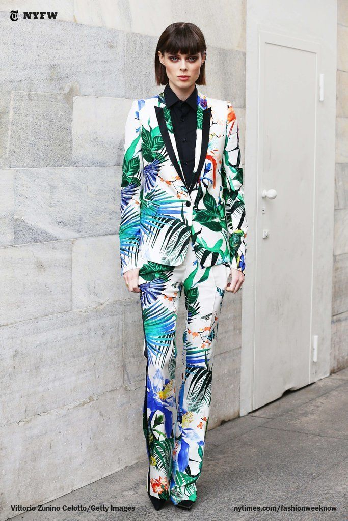 Bird Of Paradise Coco Rocha At Milan Fashion Week Vittorio Zunino Celotto For The New York