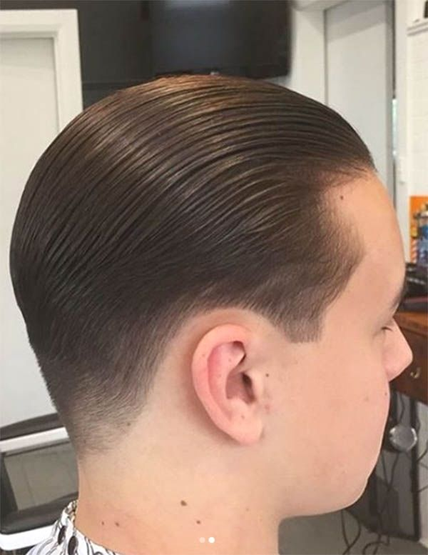 Slick Back For Young Men Haircut For Men Slick Back Haircut Slicked Back Hair Slick Hairstyles