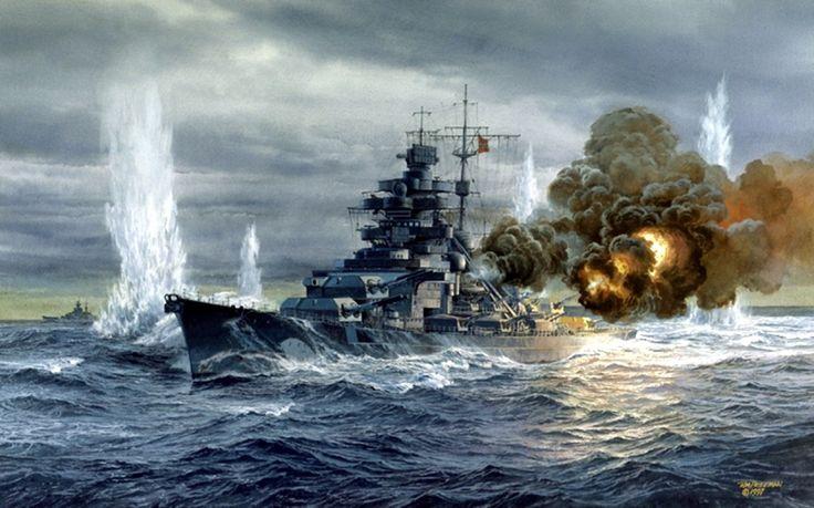 """hanspanzer: """" Acorazado Aleman Bismarck """""""