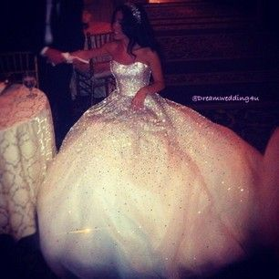 almost looks like a gypsy gown love the poof and the sparkle