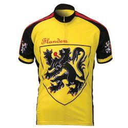 World Jerseys Lion Of Flanders Jersey - Short Sleeve Cycling Jerseys