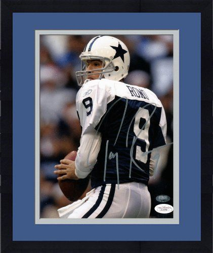 Autographed Tony Romo Photograph - Framed 8x10 - JSA Certified - Autographed NFL Photos by Sports Memorabilia. $203.17. Autographed Tony Romo 8x10 Photo - JSA. You don't see stats like that every day, which is why Romo's pieces are big with collectors. We stand behind every item we sell, and you can be sure you're getting value and quality. All pieces from this signing session include a numbered hologram for authenticity. Tony Romo doesn't do signings very often, so ...