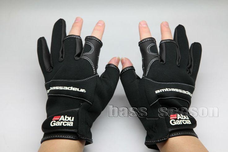 2016 Abu Garcia Fishing Gloves Gripping Hunting Gloves Size XL Free Shipping
