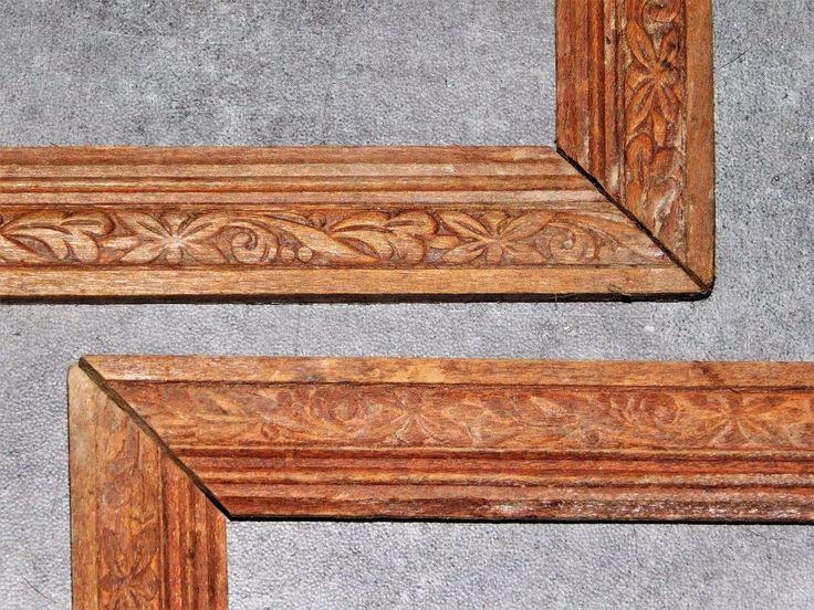 2 cadres anciens en bois sculptes de vegetaux cadr632 le charme des cadres. Black Bedroom Furniture Sets. Home Design Ideas