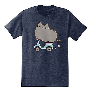 Scootin Pusheen the Cat T-Shirt #blueroofind #pusheen