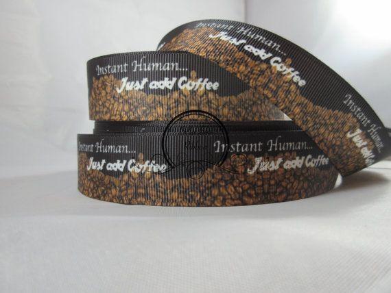 Coffee Bean 1 Inch Grosgrain Ribbon By the Yard RN15303  #ribbon #handmade #diy #ribbondecor #etsy #etsyribbon #etsyjewelry #etsyhandmade #etsydiy #ribboncraft #craft #craftribbon #supplies #party #partydecor #handmadedress  #wholesale #wholesaleribbon #ribbonsupplies #craft #craftsupplies #products #coffee #coffeeribbon #lovecoffee