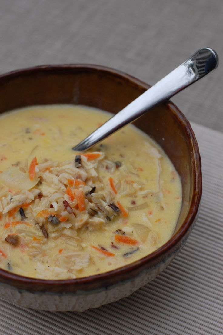Chicken and Wild Rice Soup - So Warm & Hearty!