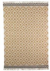 Alvin Rota flat woven rug Kilim 240 * 170 / White / Yellow / 995 NIS