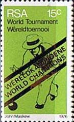 South Africa 1976 World Bowls Champions Fine Mint SG 398 Scott 460 Other South Afdrican Stamps HERE
