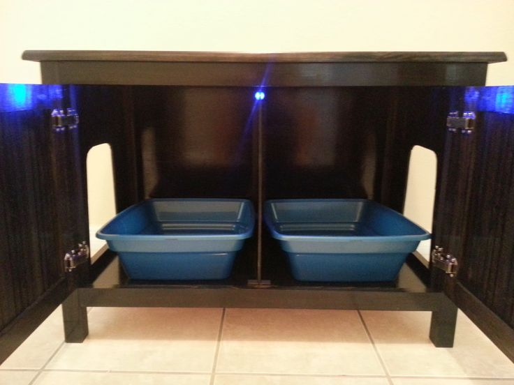 Double Cat Litter Box Furniture. Multi Cat Hidden Litter