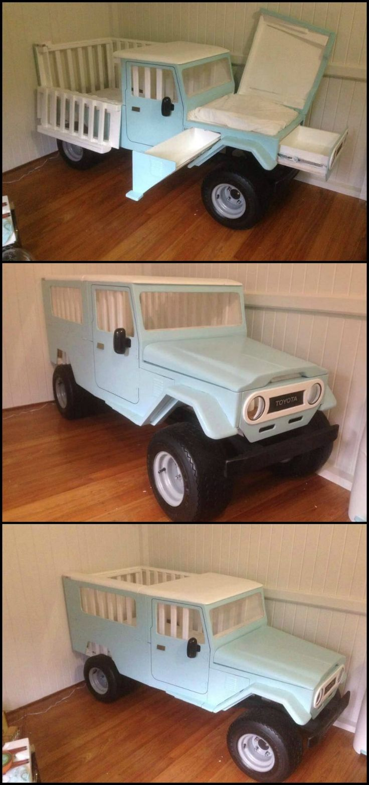 Baby bed camping - Getting Ready For The Arrival Of The Newest Addition To Your Family Here S A Great Way To Welcome Him His Very Own Truck Crib This Diy Truck Crib Can Be