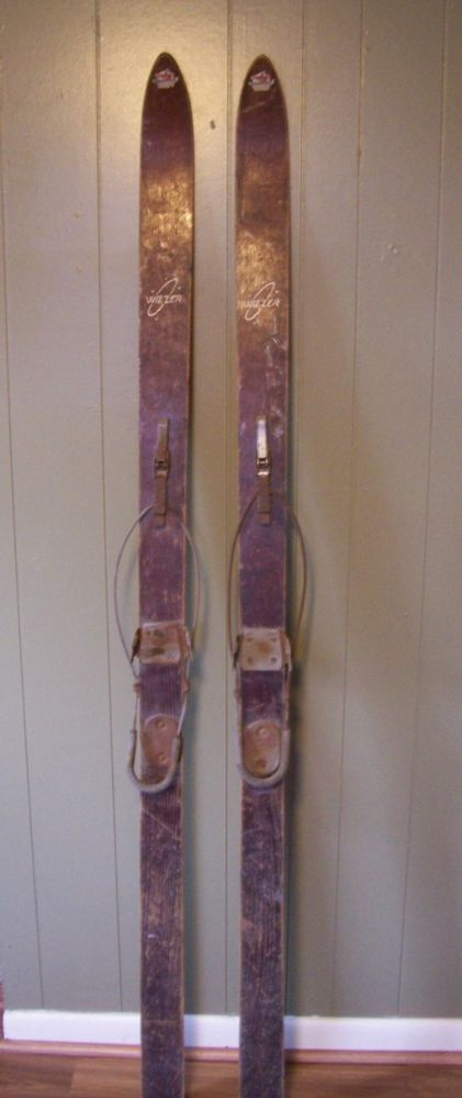 Antique Wooden Snow Skis 71 Quot Kandahar Bindings Hedlund