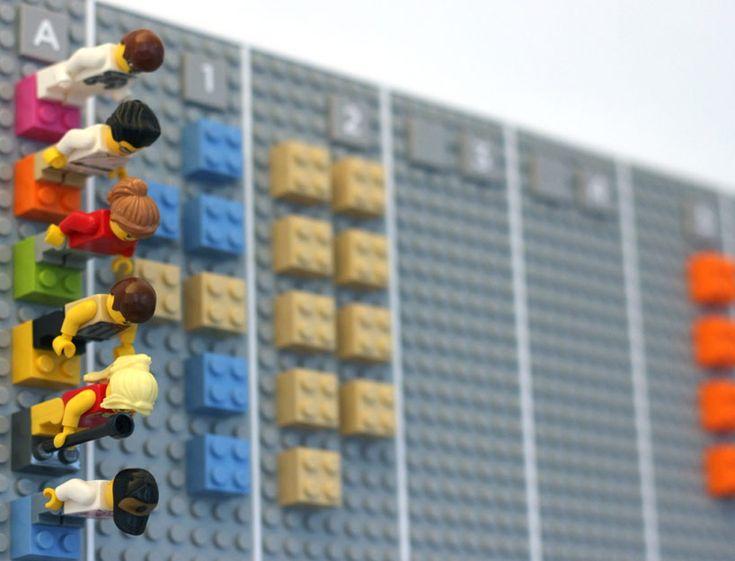 LEGO calendar by vitamins digitally syncs to google or iCal - designboom | architecture & design magazine