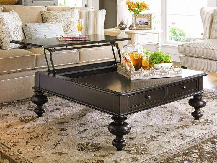 Paula Deen Home Put Your Feet Up Coffee Table with Lift Top