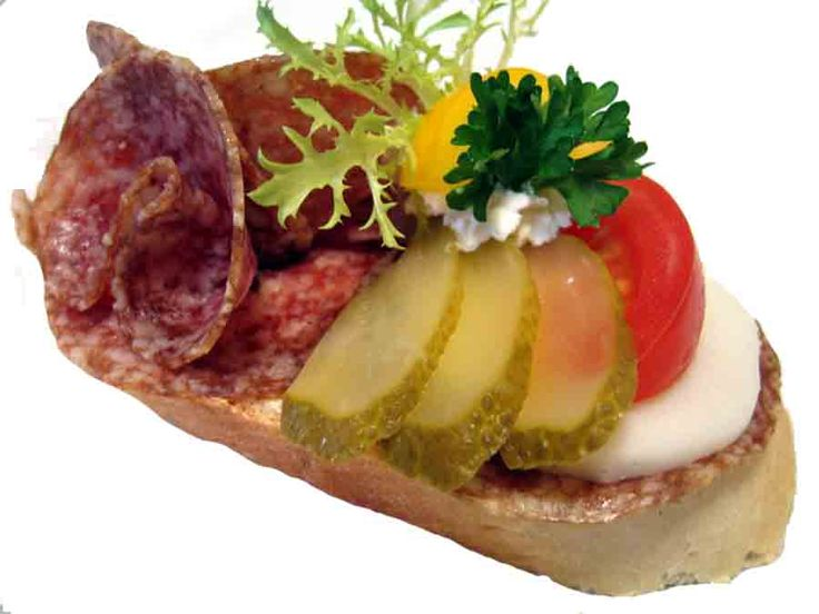 open face sandwiches - www.cateringshop.cz