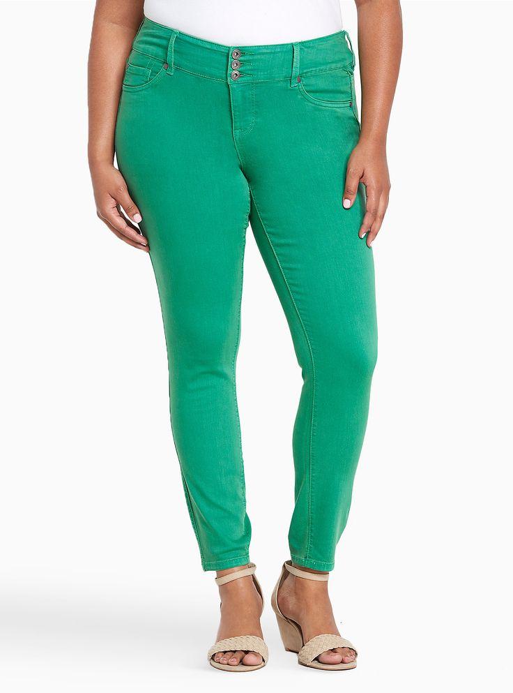 Shoptagr | Torrid Jeggings Kelly Green Wash by Torrid #plussize #dress #style #outfit #trend #onlineshop #shoptagr