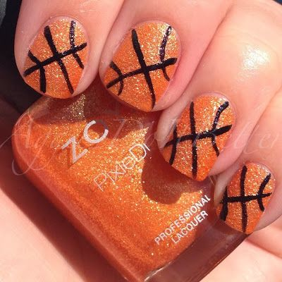 March madness basketball nails with zoya beatrix