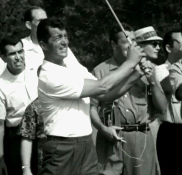 Dean Martin at a Golf game vs Sam Snead