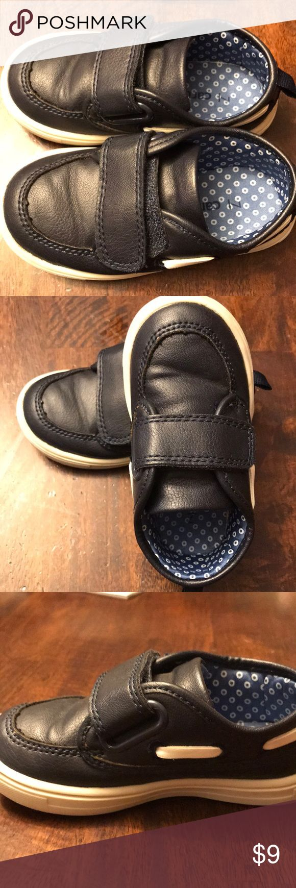 Carter's Size 7 Toddler Boy Dress Shoes Dark Navy dress shoes with white trim. Worn 2 times, bottoms have a few scuffs but other than that in perfect condition! Carter's Shoes Dress Shoes