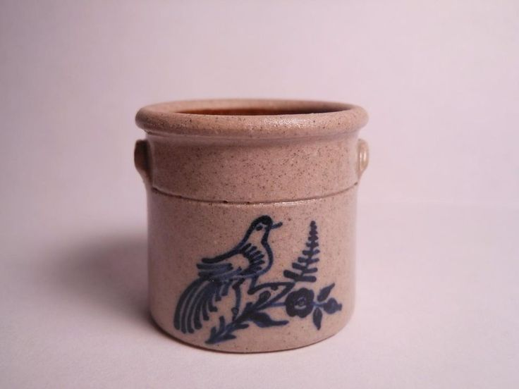 Carolyn Curran Cnc Dollhouse Miniature Stoneware Crock