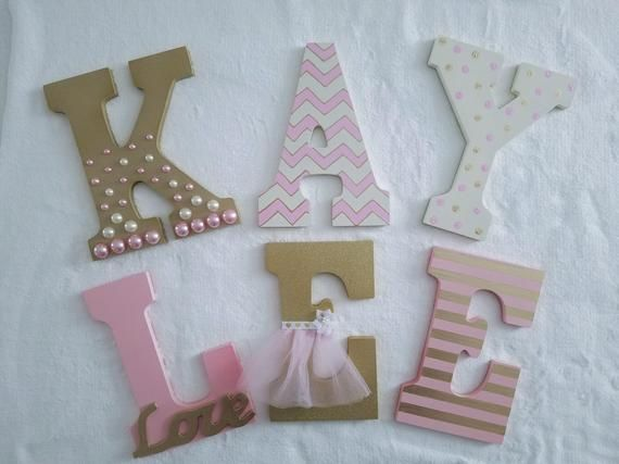 Custom Wooden Letter Wood Initials Hanging Wall Letters