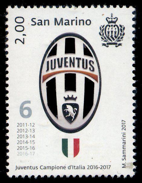 Stamp: Coat of arms of Juventus (San Marino) (Football action) Mi:SM 2717