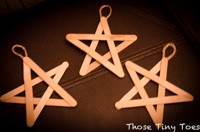 Popsicle Stick Star Ornaments