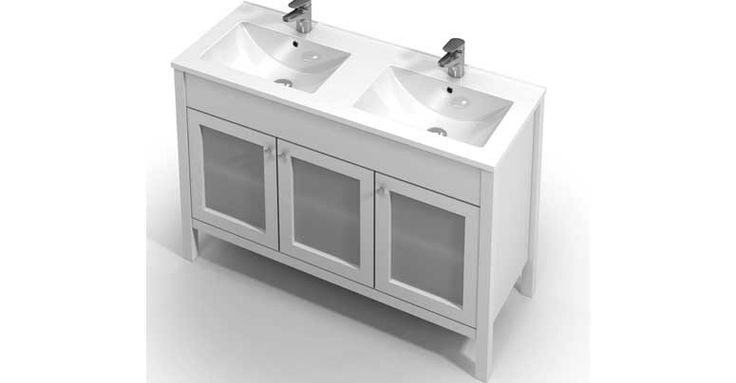 St Michel / Hampton 1200 Dbl Vanity. White, Oak or Dark Oak. $2883. (Or $2699 as 1200 Single).