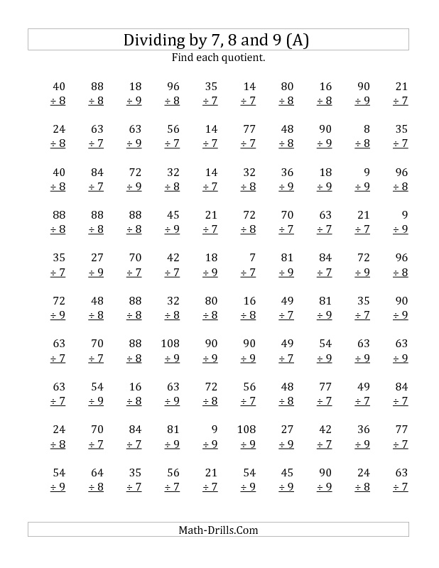 133 best 5th grade math images on Pinterest Creative, Division - multiplication and division worksheet