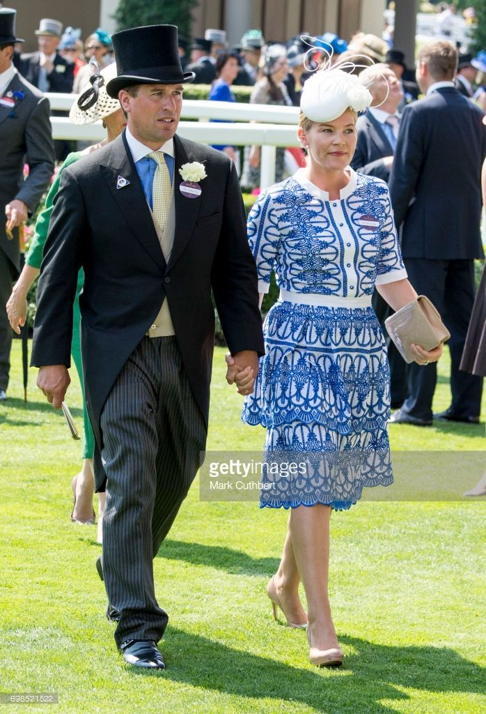 Autumn Phillips and Peter Phillips attend Royal Ascot 2017 at Ascot Racecourse on June 20, 2017 in Ascot, England. (Photo by Mark Cuthbert/UK Press via Getty Images)
