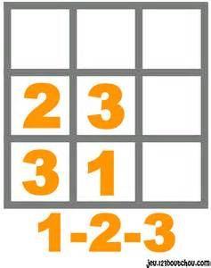 jeu de sudoku 'Grille sudoku Facile chiffre n° 2' pour enfant a ...