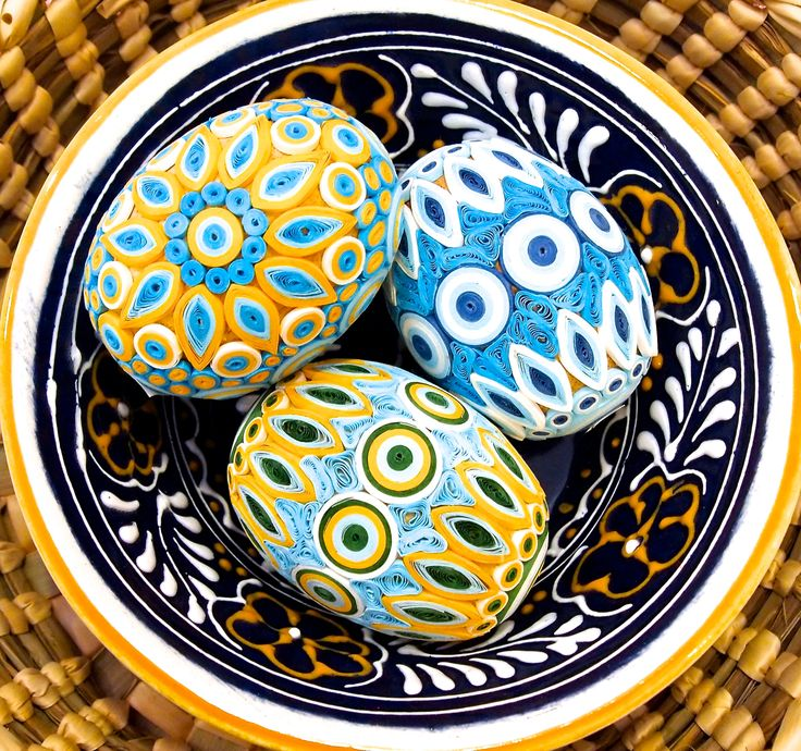 Quilled paper eggs from Vietnam
