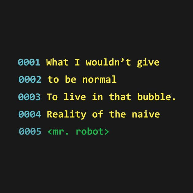 Mr. Robot T-Shirt! #Mrrobot #code #coder Love this