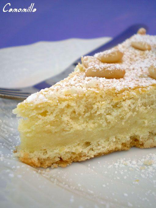 torta semplice di pasta frolla con farina di mandorle e crema! #recipe #juliesoissons