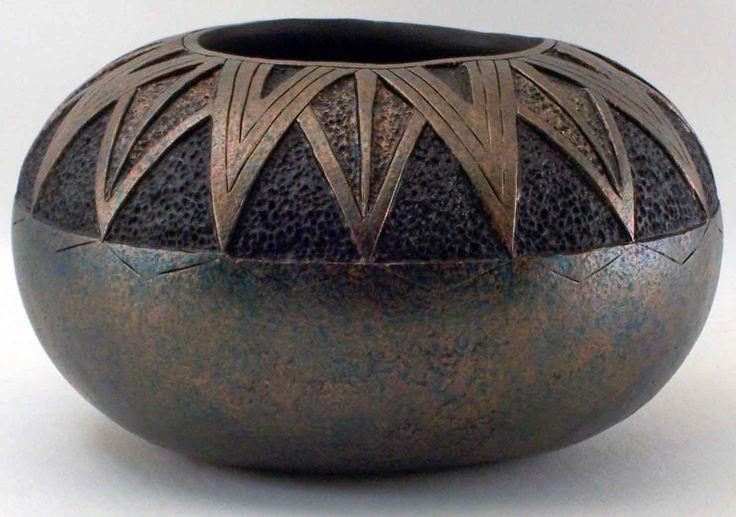 Group southwest gourds art sculptural basketry