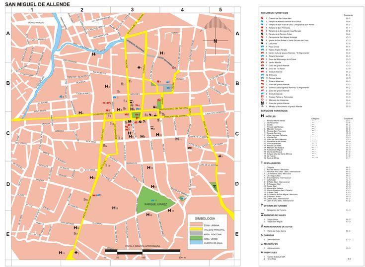 Mapa de San Miguel de Allende