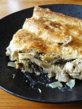 tourte poulet et champignons express par Jamie Oliver
