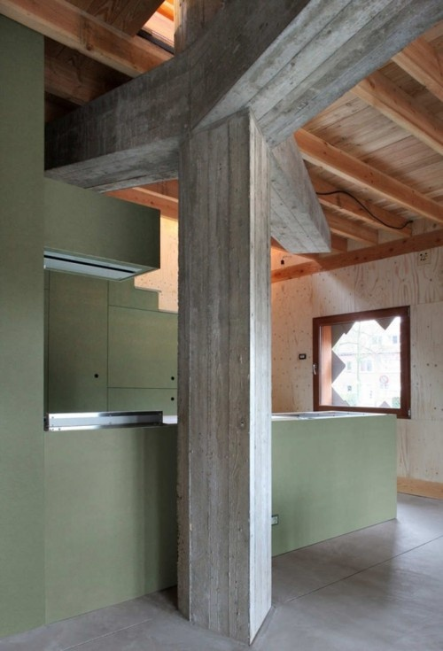 where concrete meets wood