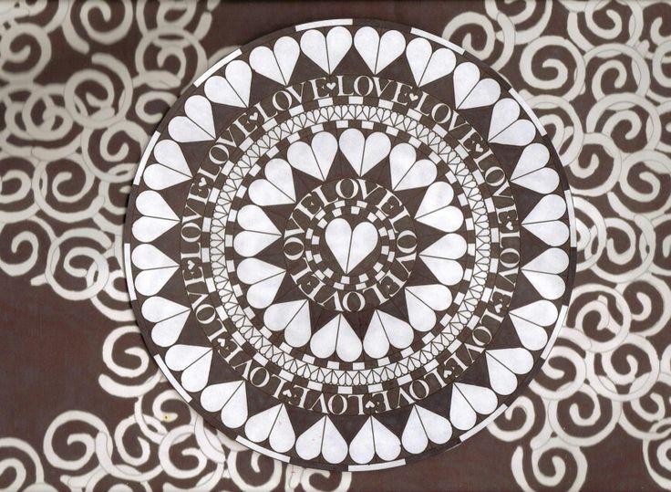 Love mandala black